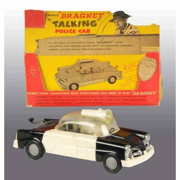 2405: Plastic Ideal Dragnet Talking Police Car Toy.
