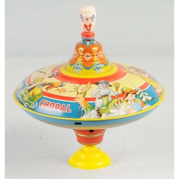 1: Tin Litho Top Toy.