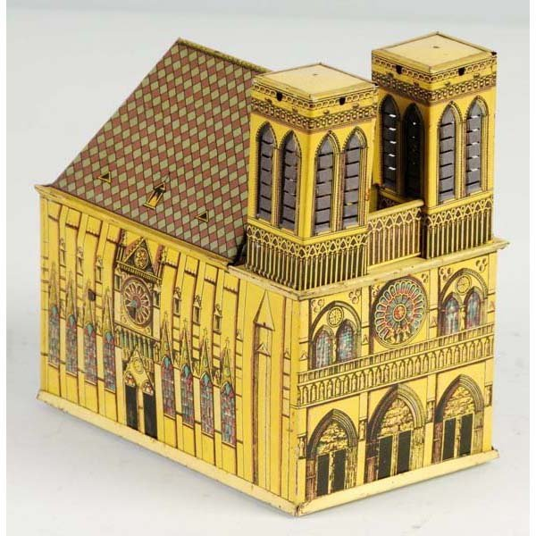 2: Tin Litho Cathedral Toy.