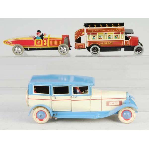 3: Lot of 3: Contemporary Tin Wind-Up Toys.