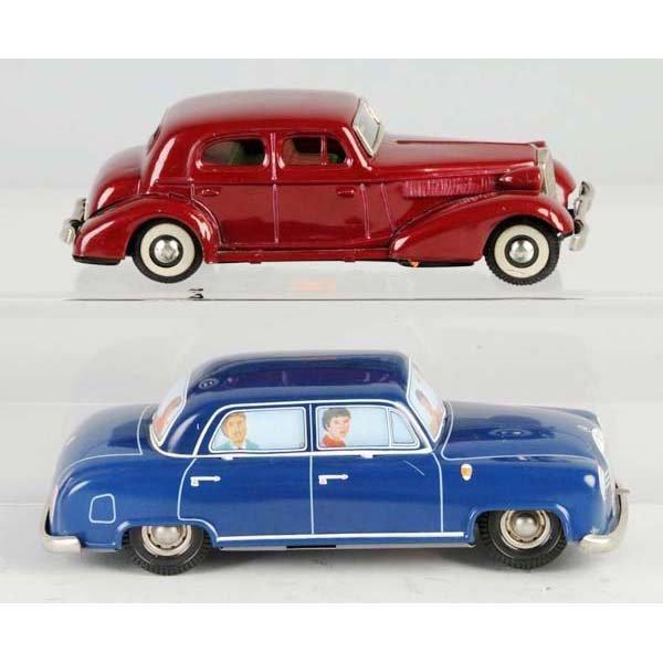 4: Lot of 2: Tin Mercedes Automobile Toys.