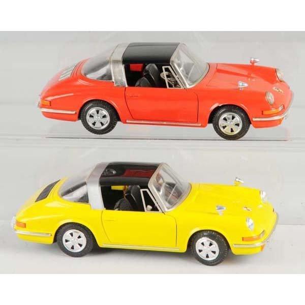 7: Lot of 2: Plastic Schuco Porsche Wind-Up Toys.