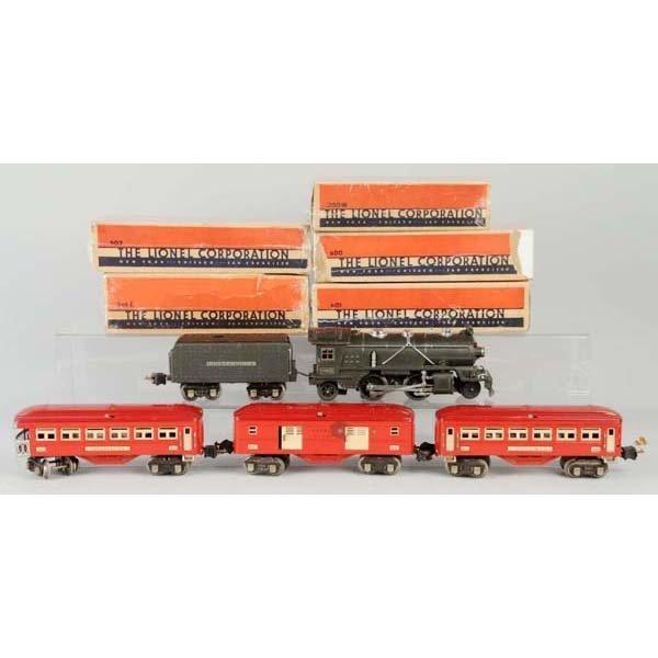 10: Lionel O-Gauge No. 249 Passenger Train Set.