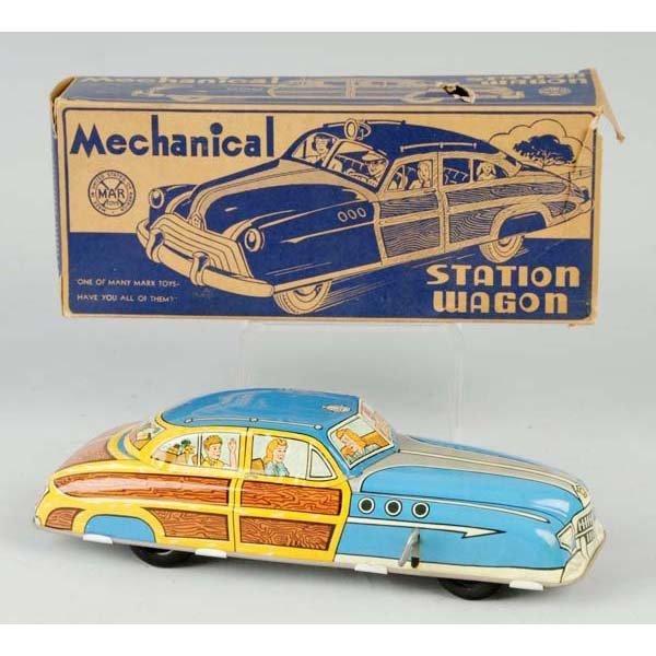 15: Tin Marx Station Wagon Wind-Up Toy.