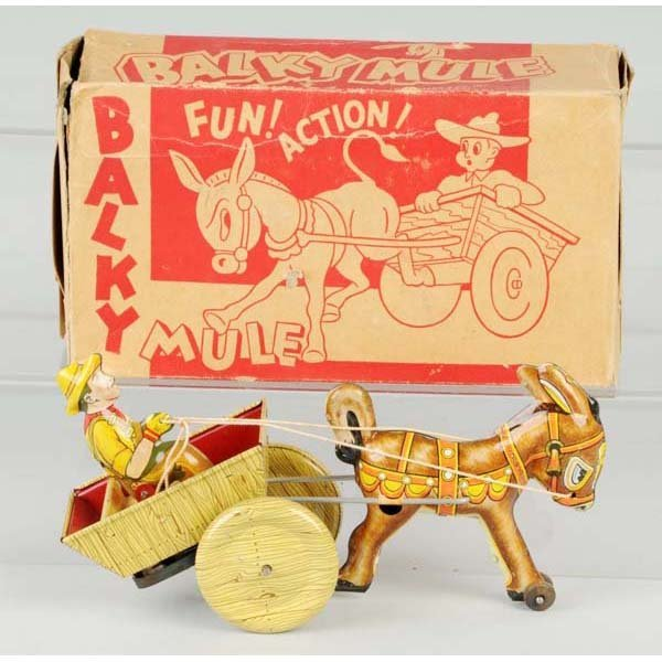 18: Tin Marx Balky Mule Wind-Up Toy.