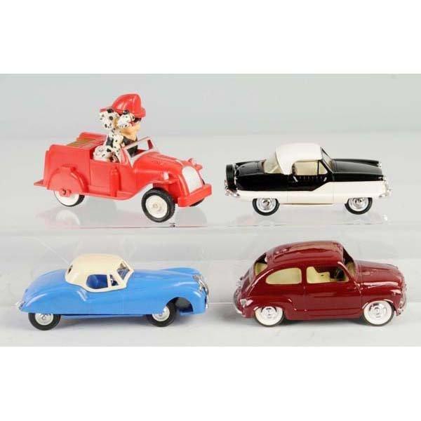 20: Lot of 4: Plastic Vehicle Friction & Push Toys.