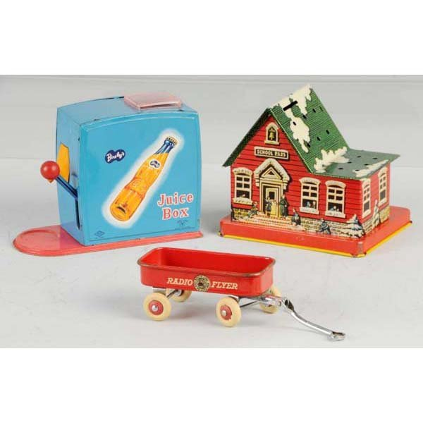 21: Lot of 3: Tin Toy Items.