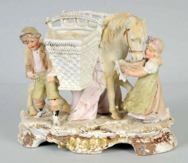 19: Large German Bisque Figurine.