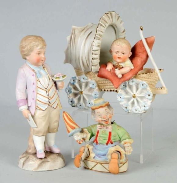 24: Lot of 3: Bisque Figurines.