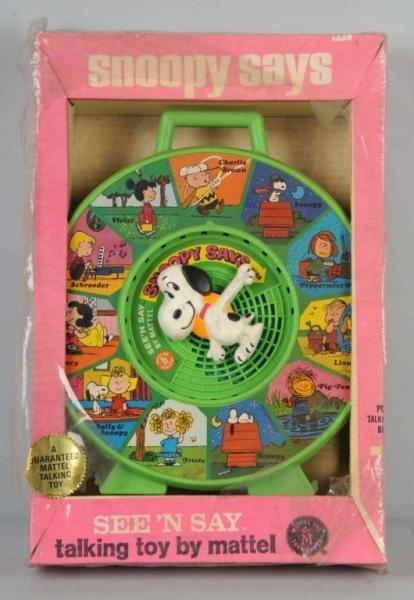 419: Mattel Snoopy See 'N Say Toy.
