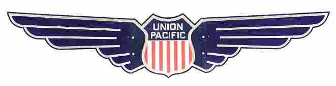 """UNION PACIFIC RAILROAD STAINLESS """"WINGS""""."""