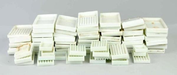 1: Large Lot of Milk Glass Dental Trays.