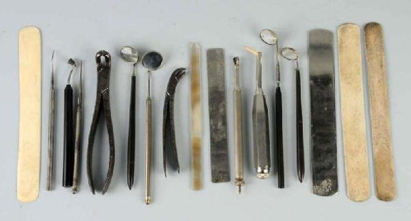 13: Lot of 16: Dental Instruments.