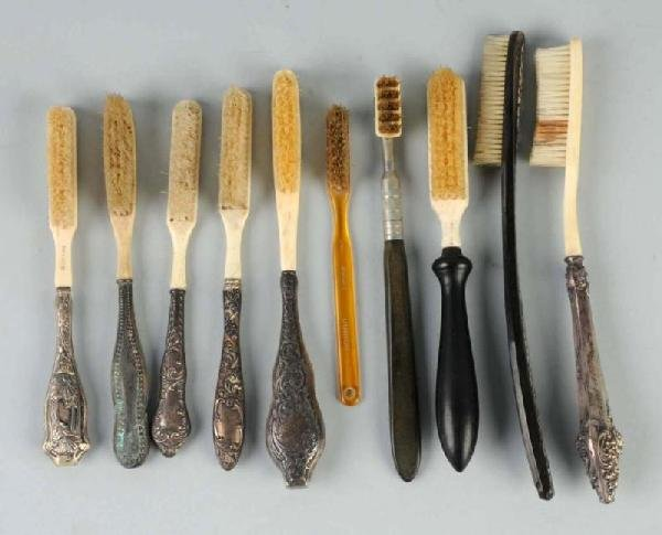 16: Lot of 10: Early Toothbrushes.