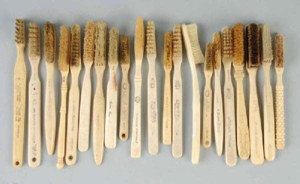 17: Lot of 20: Early Toothbrushes.