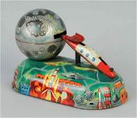 356 Tin Litho Missile Savings Mechanical Bank