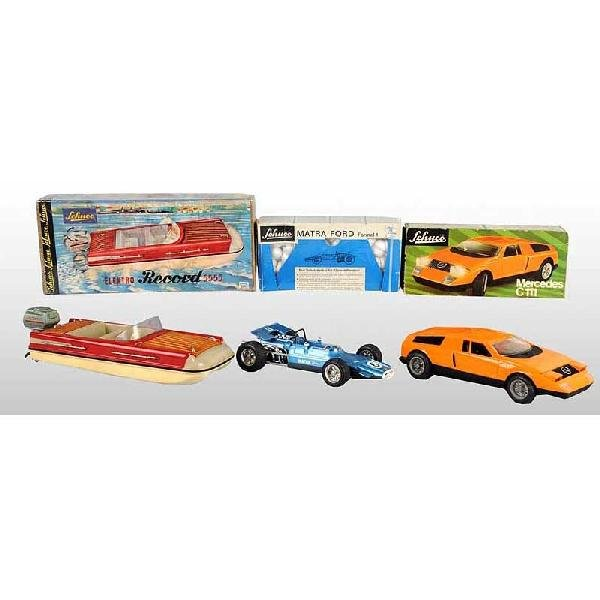 2: Lot of 3: Plastic Schuco Vehicle Toys.