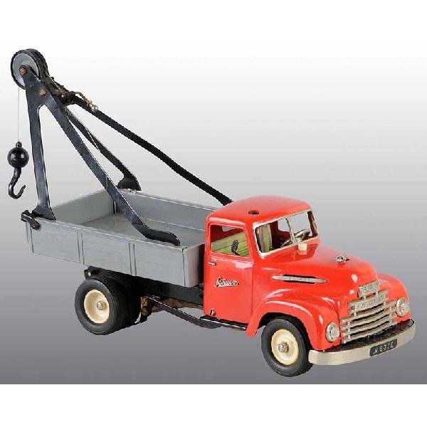 5: Tin Schuco Tow Truck Clockwork Toy.