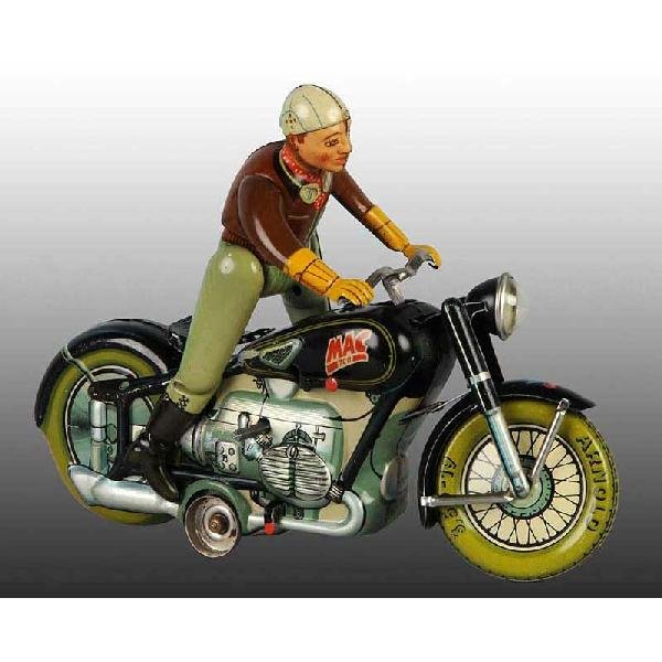 10: Tin Arnold Mac 700 Motorcycle Wind-Up Toy.
