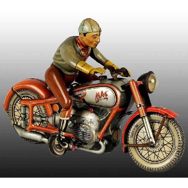11: Tin Arnold Mac 700 Motorcycle Wind-Up Toy.