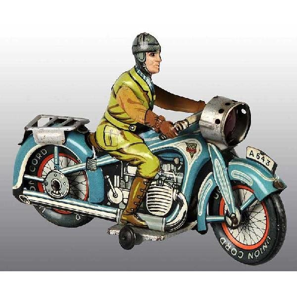 12: Tin Arnold Motorcycle Wind-Up Toy.