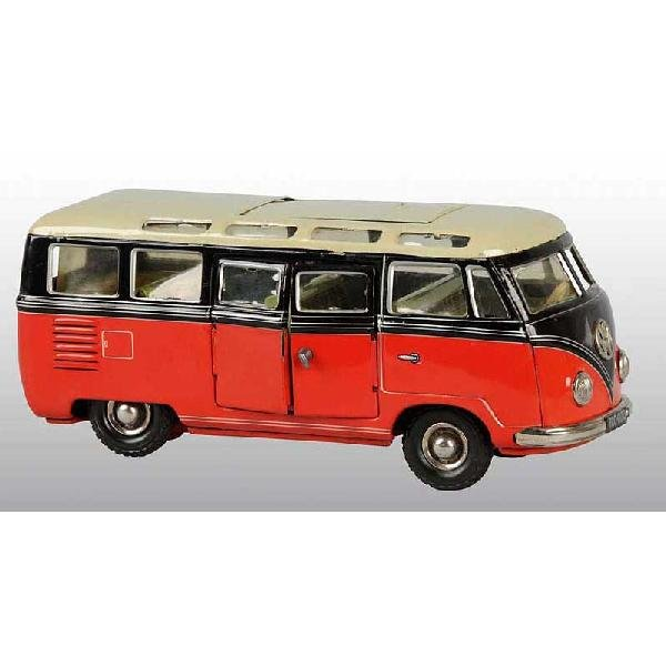 16: Tin Tippco Volkswagen Bus Friction Toy.