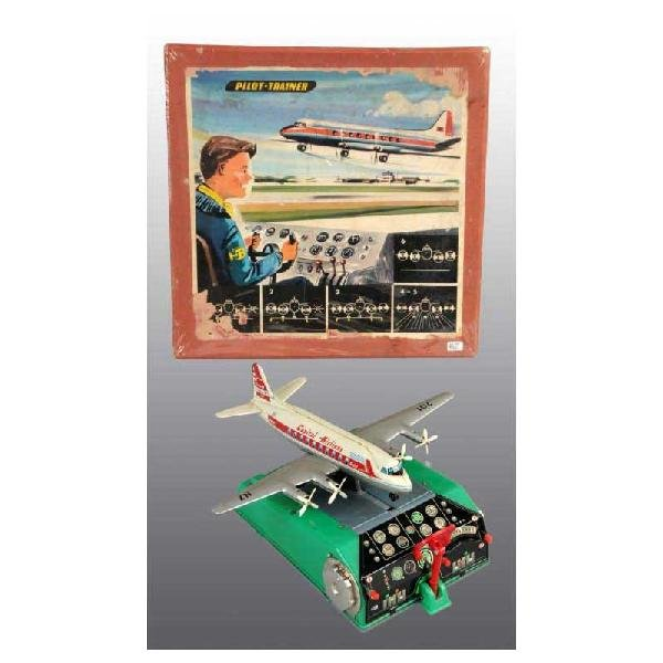 18: Tin Pilot-Trainer Battery-Operated Toy.