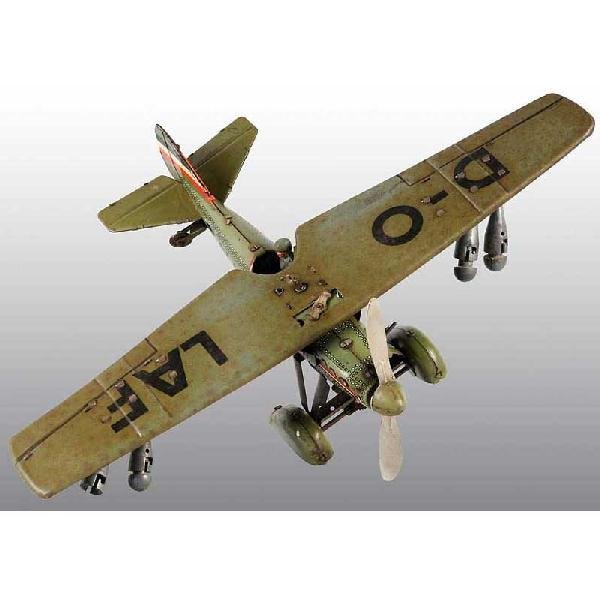 19: Pre-War Tin Tippco Airplane Wind-Up Toy.