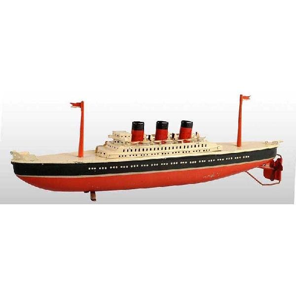 20: Tin Arnold Ocean Liner Wind-Up Toy.