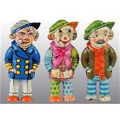 58: Lot of 3: Tin Litho Walker Wind-Up Toys.