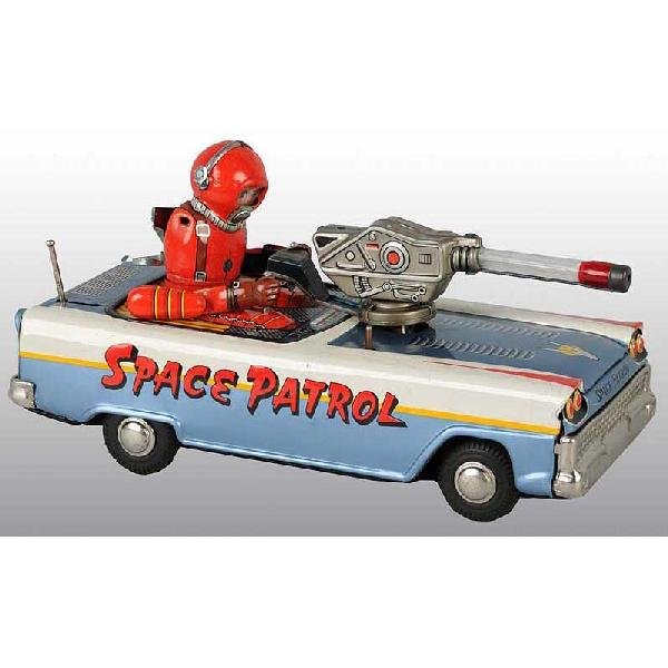 165: Tin Space Patrol Battery-Operated Toy.