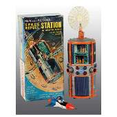 193 Tin Space Fuel Station BatteryOperated Toy