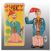 283 Tin Jimmy the Clown WindUp Toy