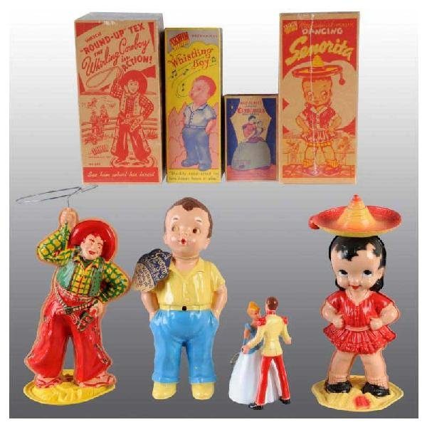 709: Lot of 4: Plastic Wind-Up Toys.