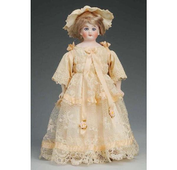 4: German Bisque Shoulder Head Lady Doll.