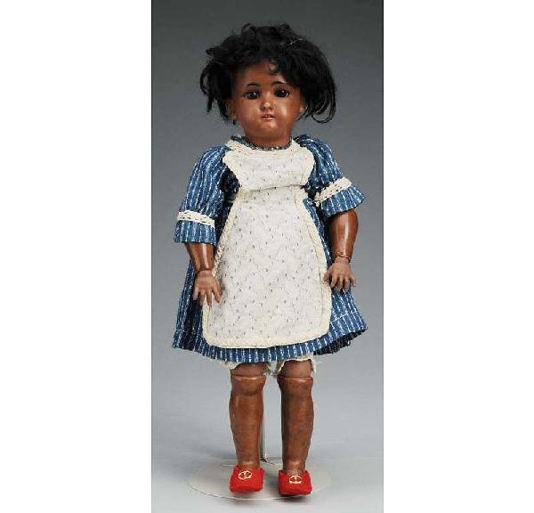 22: Rare Black German Bisque Child Doll.