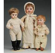 94 Lot of 3 German Bisque Dolls
