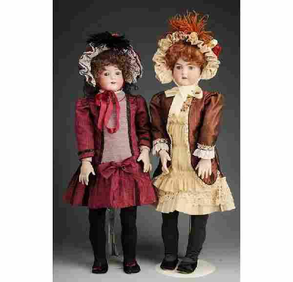 106: Lot of 2: German Bisque Dolls.