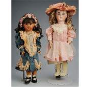 327 Lot of 2 Bisque Jumeau Dolls