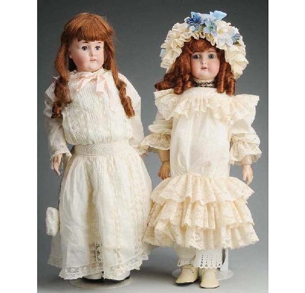 358: Lot of 2: German Bisque Child Dolls.