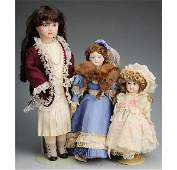 378: Lot of 3: French Artist Reproduction Dolls.