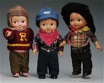 472 Lot of 3 Vintage Buddy Lee Advertising Dolls