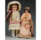 503: Lot of 2: Artist Reproduction French Dolls.