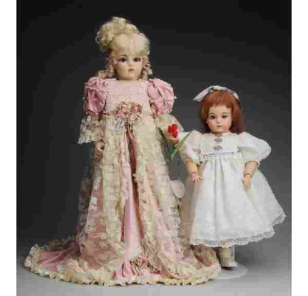 Lot of 2: Artist Reproduction French Bru Dolls.