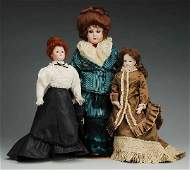 506 Lot of 3 Artist Reproduction Dolls