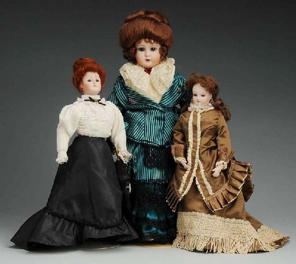 Lot of 3: Artist Reproduction Dolls.