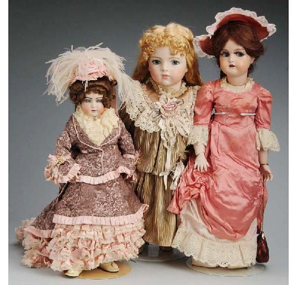 513: Lot of 3: Artist Reproduction Dolls.