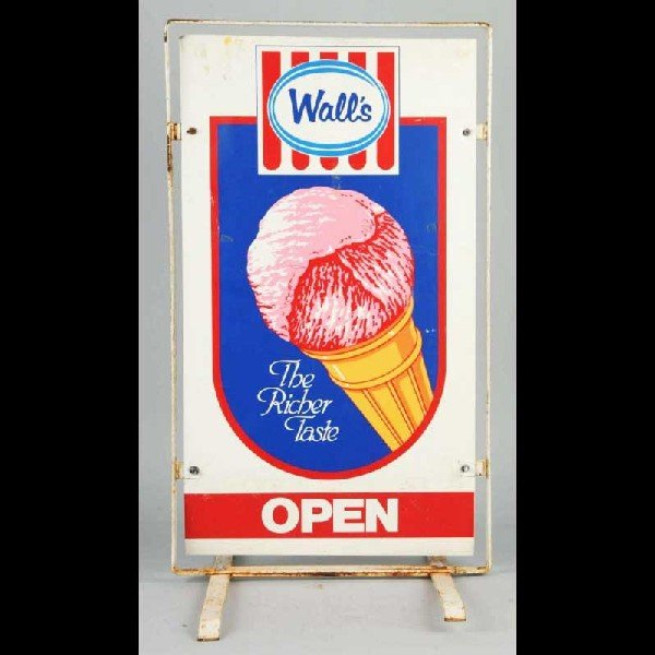 7: Metal Litho Walls' Ice Cream Sidewalk Sign.