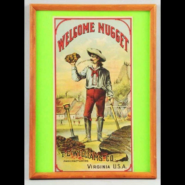 9: Self-Framed Welcome Nugget Paper Sign.