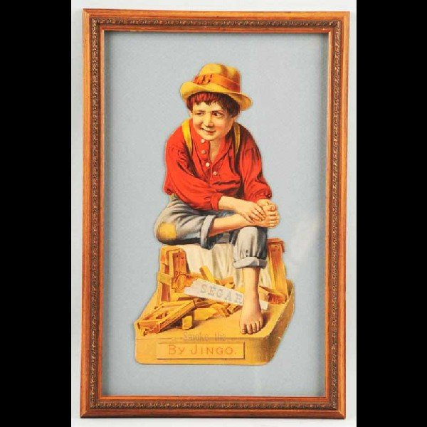 21: Cardboard Segar Tobacco Die-Cut Boy.